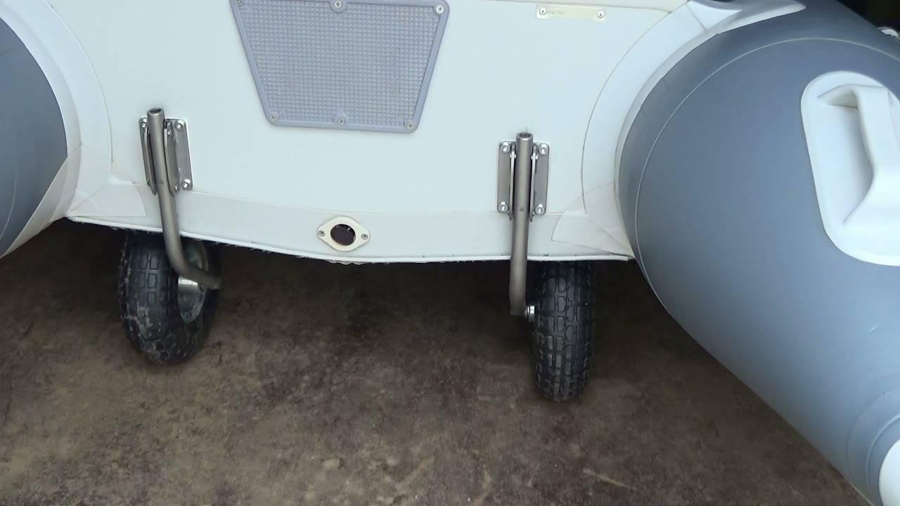 Как сделать транцевые колеса для лодки?