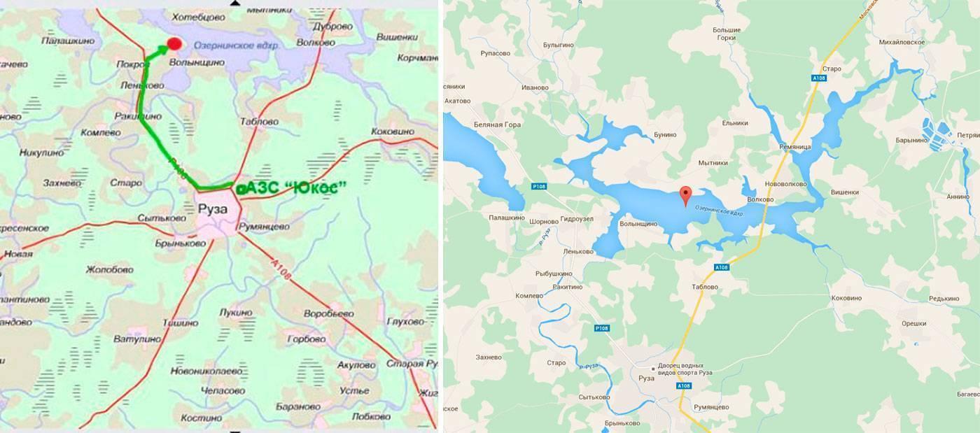 Озернинское водохранилище - всё о рыбалке на водоеме, для рыбаков города москва.