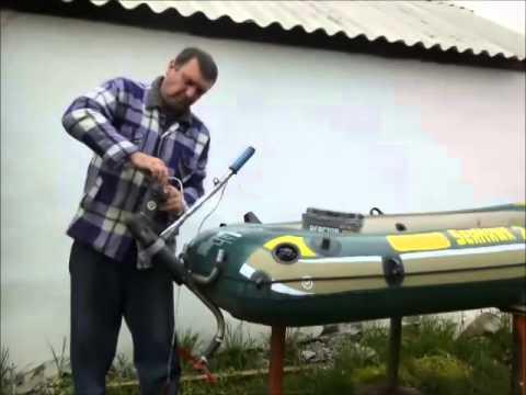Переделка — мотор для лодки на базе триммера