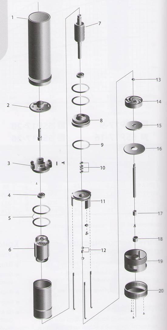 Схема насоса и схема подключения насоса