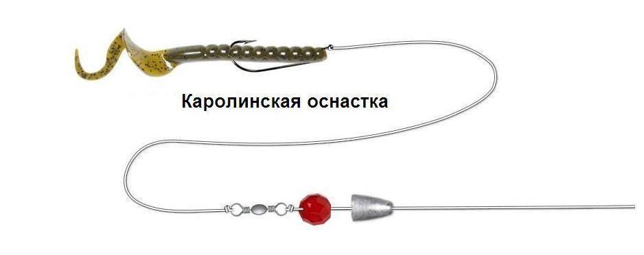 Каролинская оснастка для спиннинга: монтаж, изготовление, проводка для ловли судаков, щуки, окуня