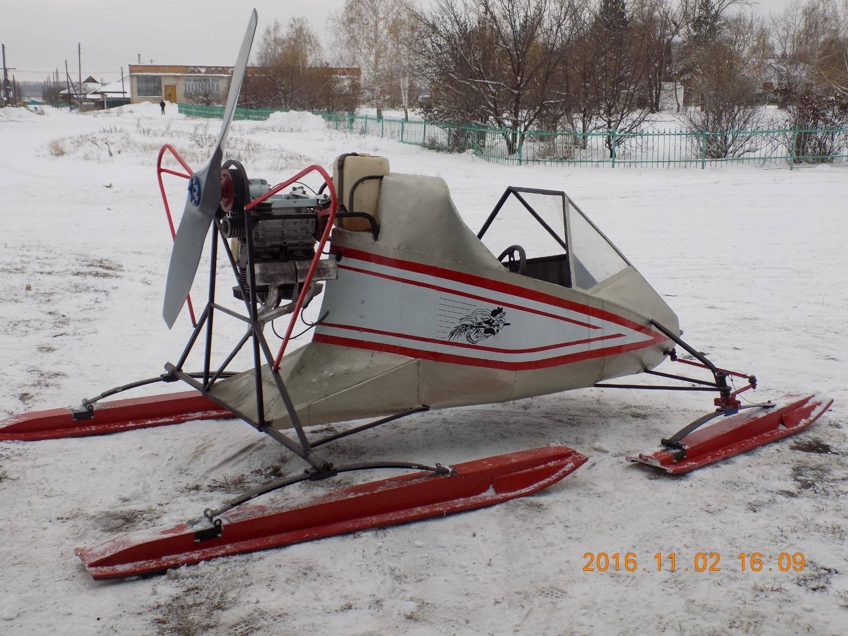 Постройка лёгких аэросаней своими руками для зимней рыбалки