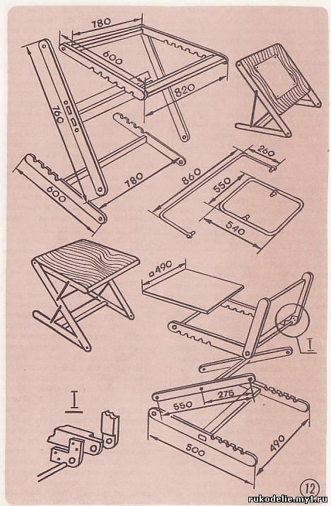 Складной стол своими руками: как сделать раскладной походный столик для пикника, чертежи и схемы
