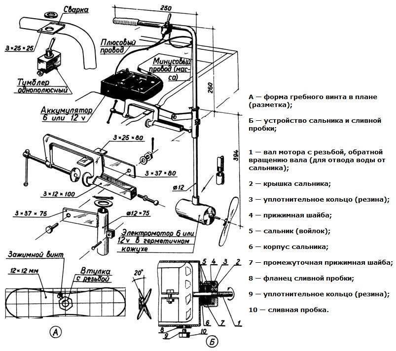 Как сконструировать самодельный лодочный электромотор из дрели?