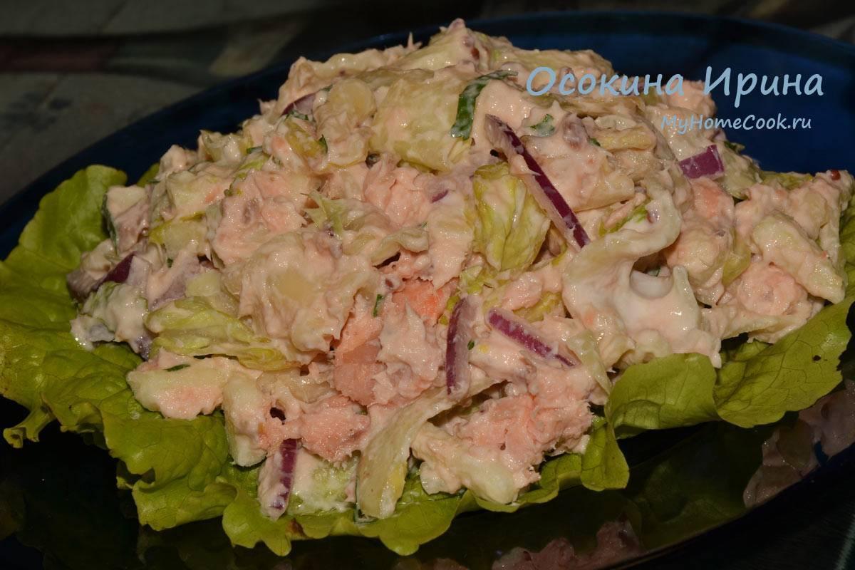 Лучшие рецепты салатов с копченой рыбой
