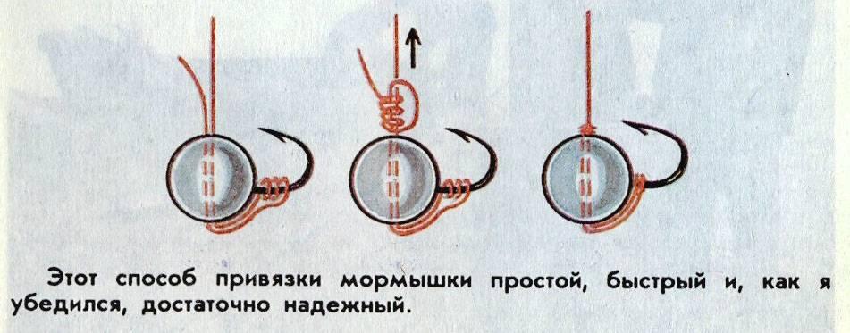 Как привязать мормышку на зимнюю удочку? ? основные узлы