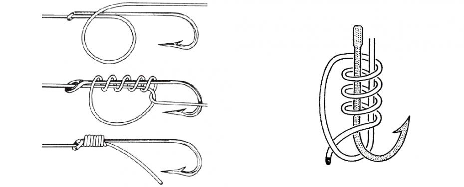 5 способов как привязать крючок клеске