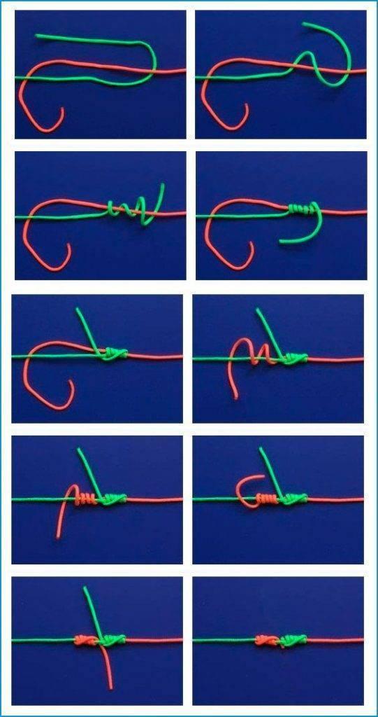 Рыболовные узлы: как привязывать поводки к леске, способы крепления лески узлами
