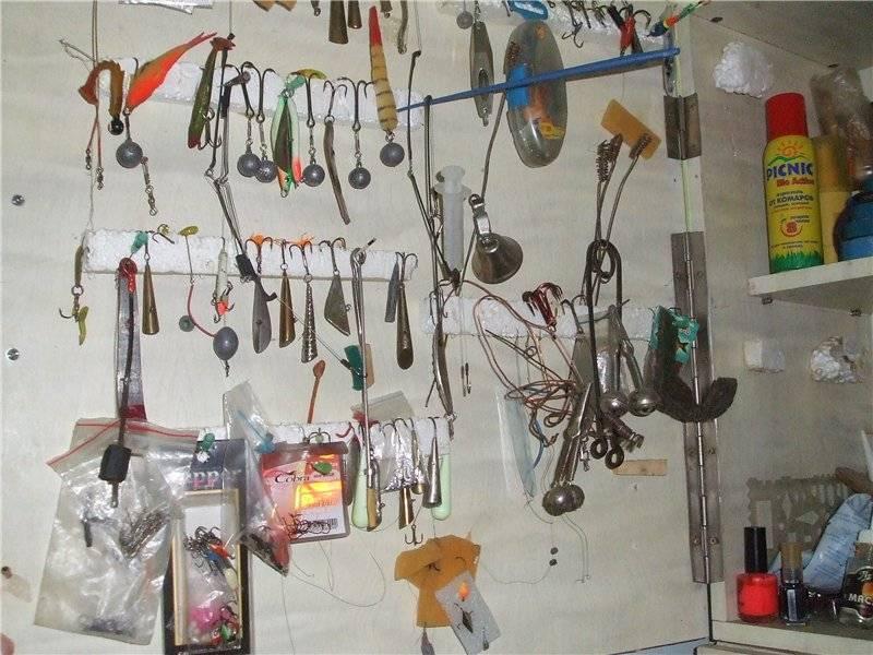 Хранение удочек, снастей и принадлежностей для рыбалки