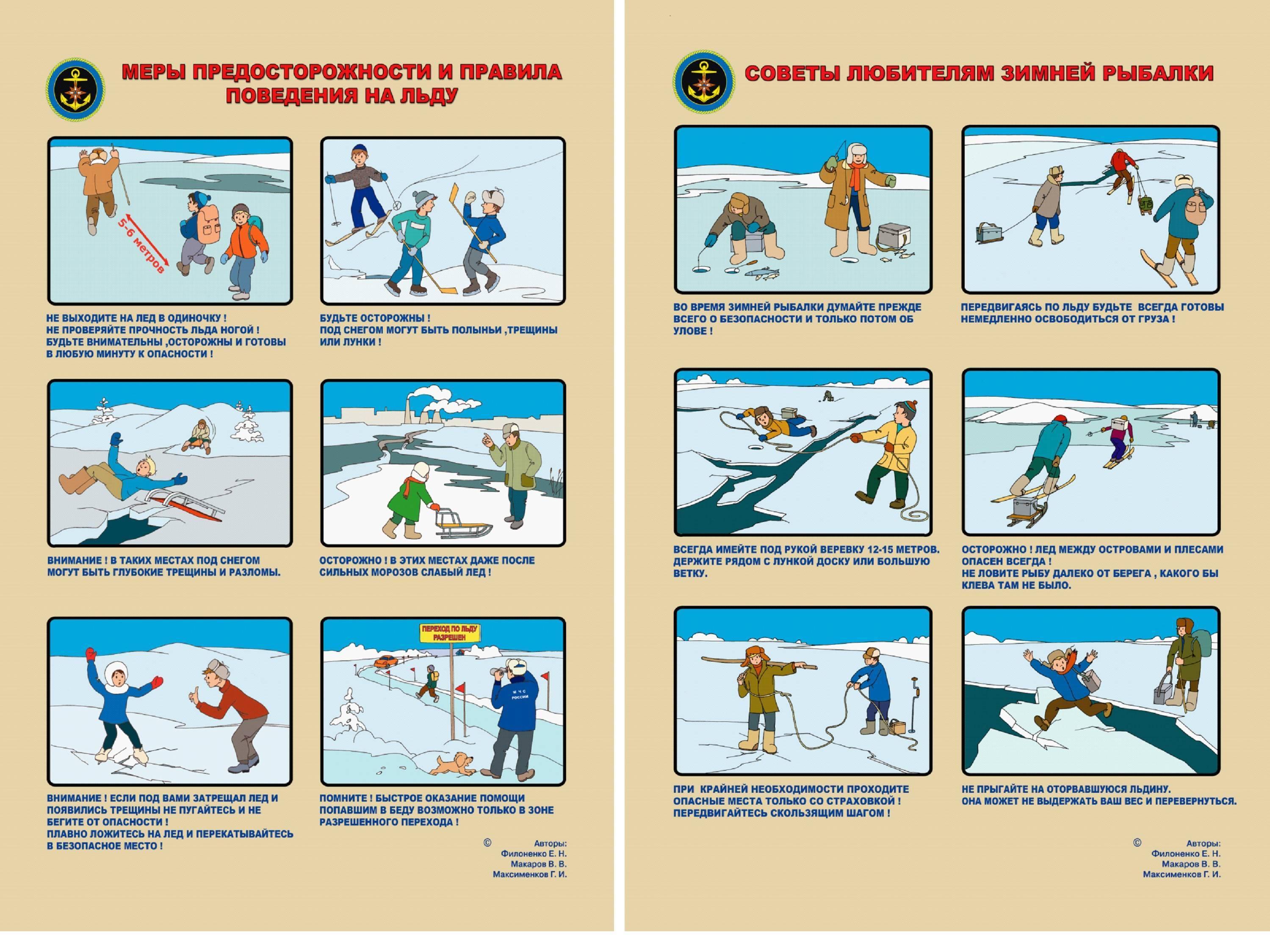 Меры безопасности на льду, спасение провалившегося под лёд / ribalcka.ru