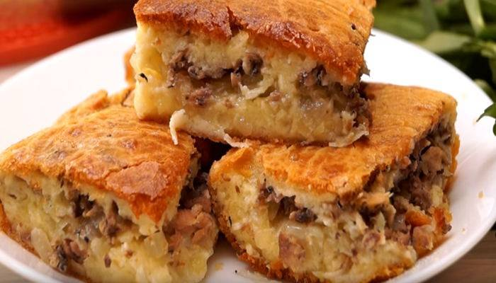 Заливной пирог с рыбными консервами — 9 рецептов с фото пошагово