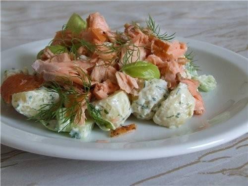 Салат с копченой рыбой – кулинарный рецепт