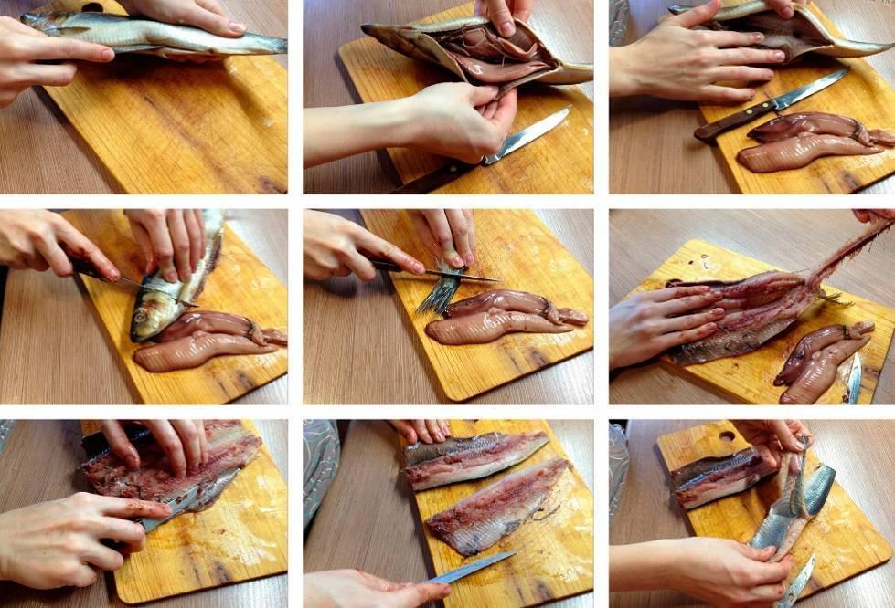 Ловкость рук и желание: как быстро и легко почистить соленую селедку и подать на стол вкусную закуску без костей