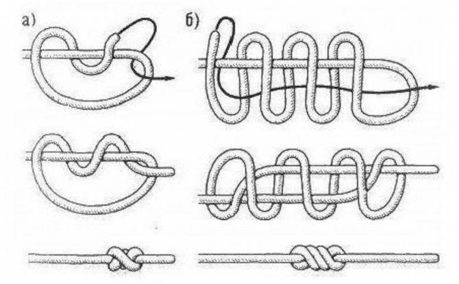Как связать плетёнку с леской