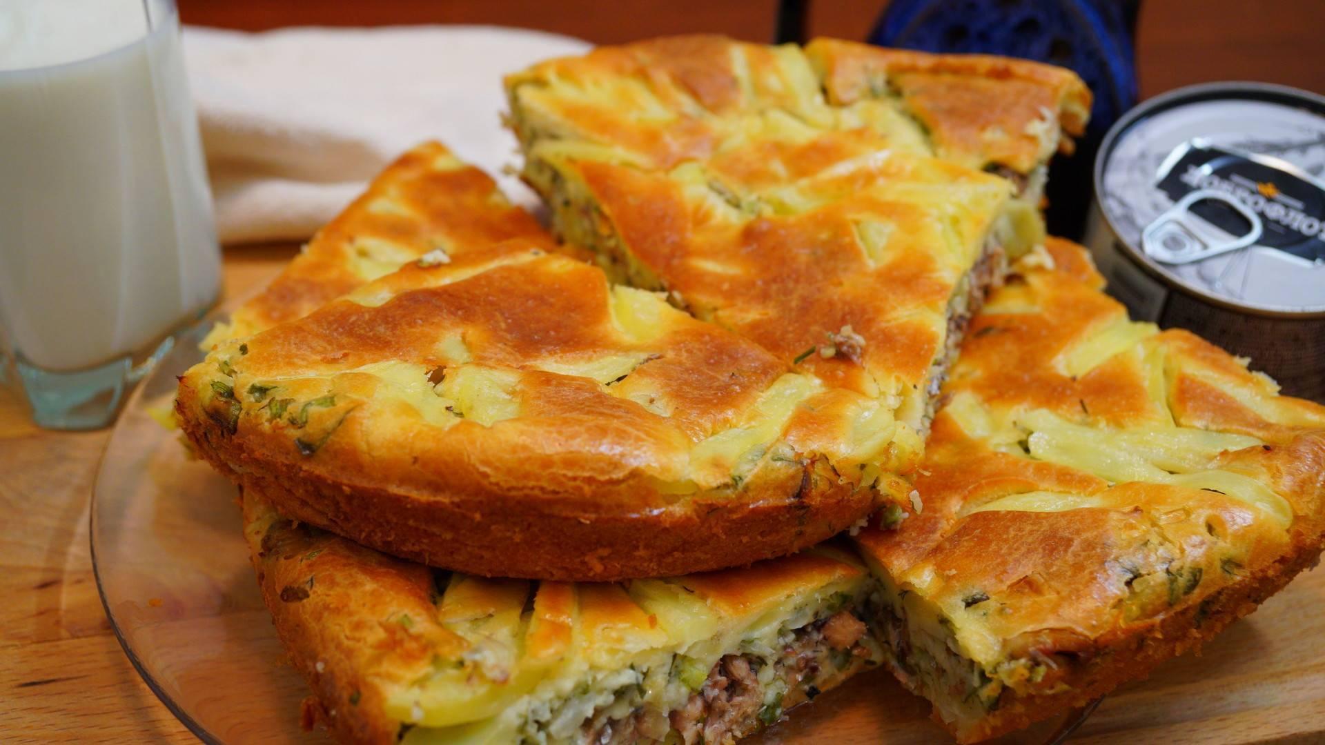 Пошаговый рецепт пирога с картошкой и рыбными консервами