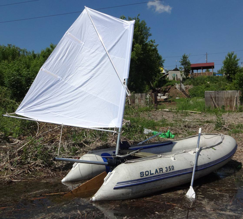 Как сделать парус для надувной лодки своими руками