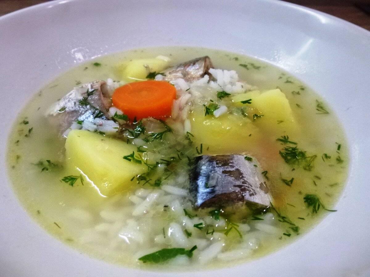 Рецепт приготовления супа из сайры с рисом на скорую руку