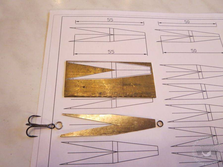 Блесна зимняя «маропедка» 40 мм: размеры и чертеж, инструменты и изготовление, отзывы