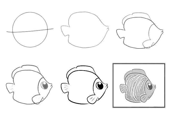Рисуем рыбу