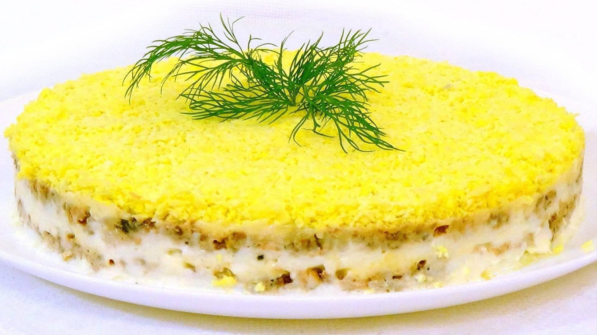 Классический салат мимоза с консервой - 5 рецептов с фото пошагово