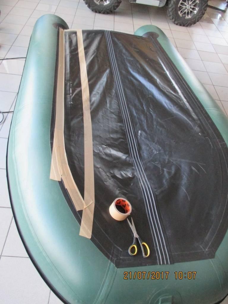 Как проклеить швы на резиновой лодке