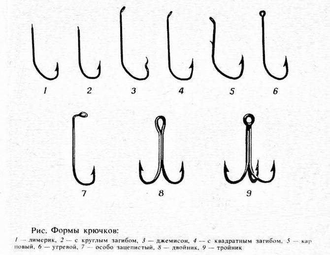 Крючки для ловли карася