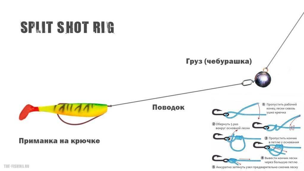 Джиговая снасть. сплит шот (split-shot) монтаж ультралайт оснастки - fish murder