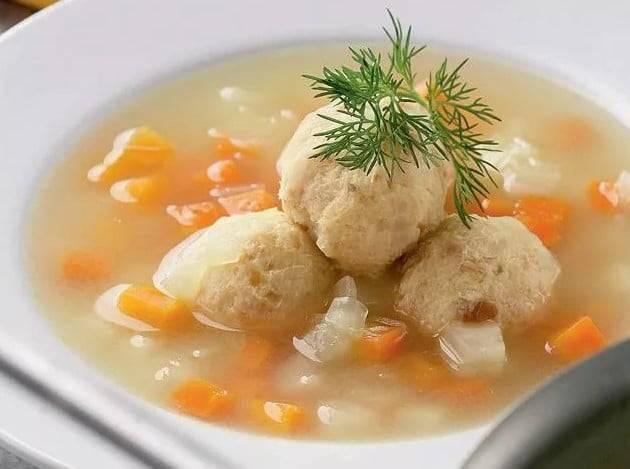 Суп с фрикадельками из рыбного фарша