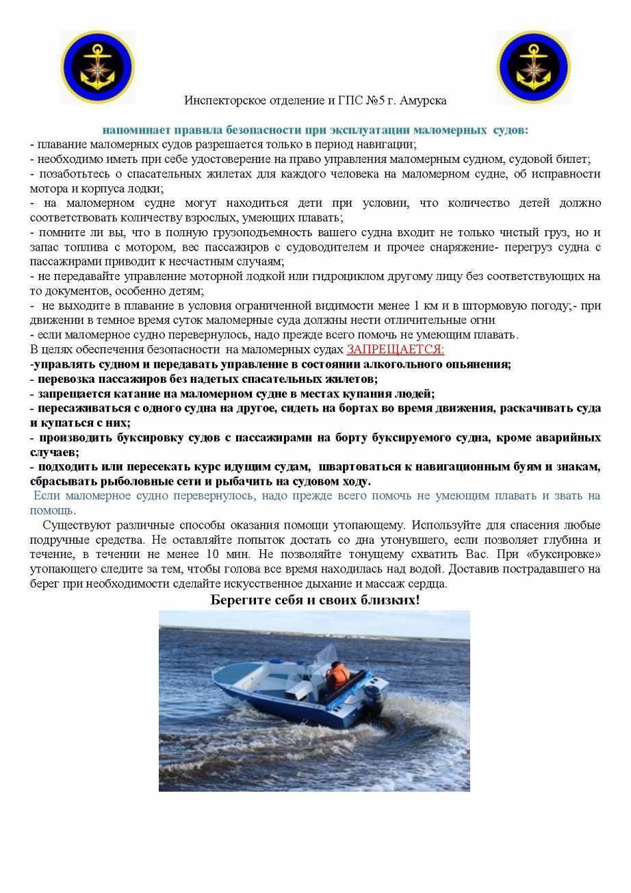 Что должно быть в лодке на воде при проверке гимс в 2020 году