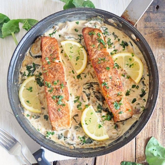 Сливочный соус для рыбы - рецепты для красной и белой рыбы с икрой, грибами, шпинатом и чесноком