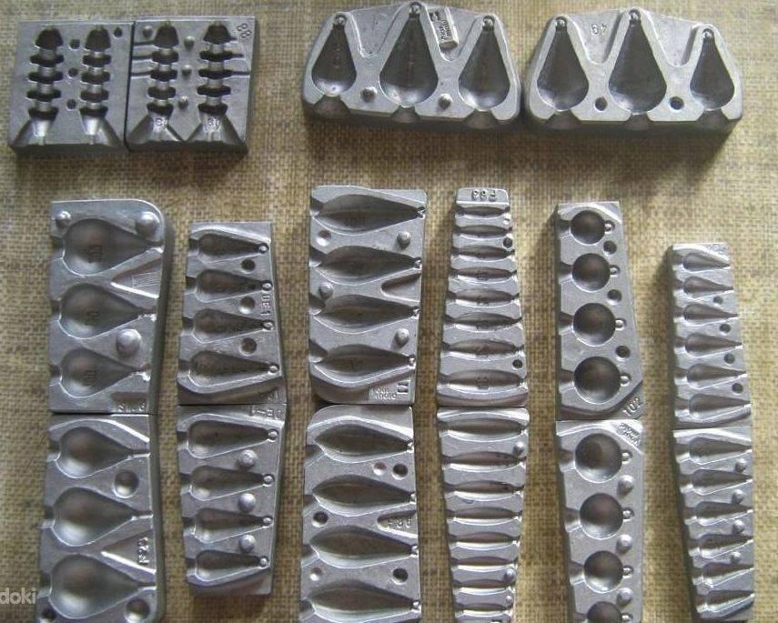 Изготовление грузил для рыбалки отливкой в гипсовую форму