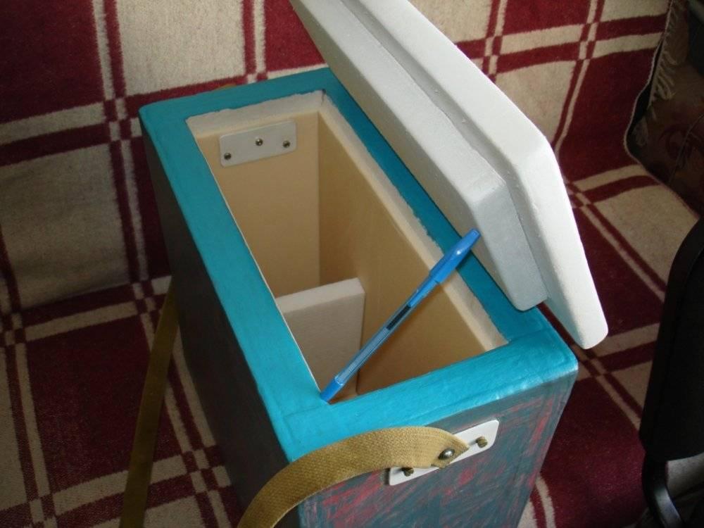 Как сделать рыболовный ящик из пенопласта своими руками