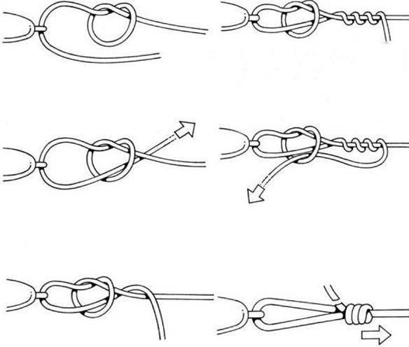 Рыболовные узлы для крючков и поводков: как правильно вязать