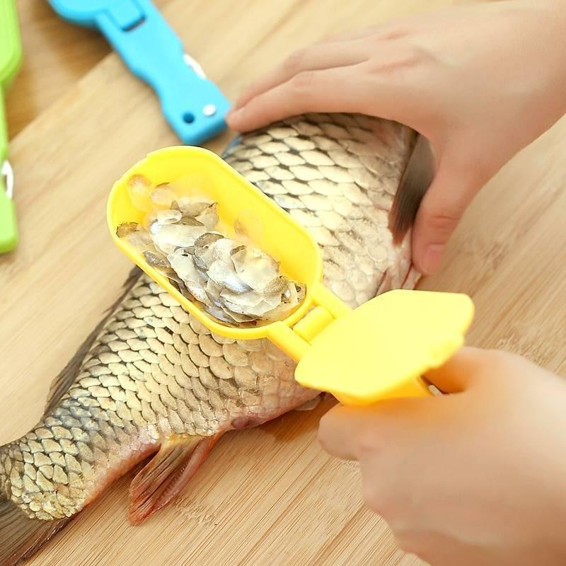 Нож для чисти рыбы от чешуи, классификация других приспособлений для очищения