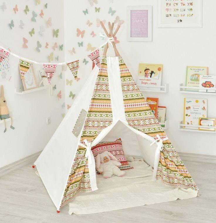 Палатка для детей своими руками — радость детям (32 фото)