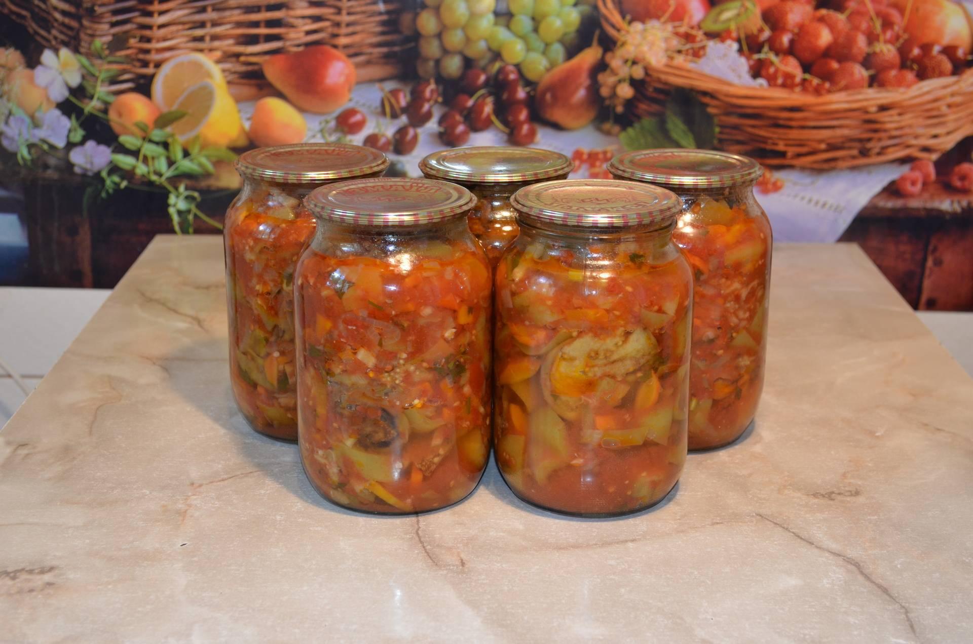 Скумбрия с овощами на зиму - рецепты с томатами, баклажанами и перцем