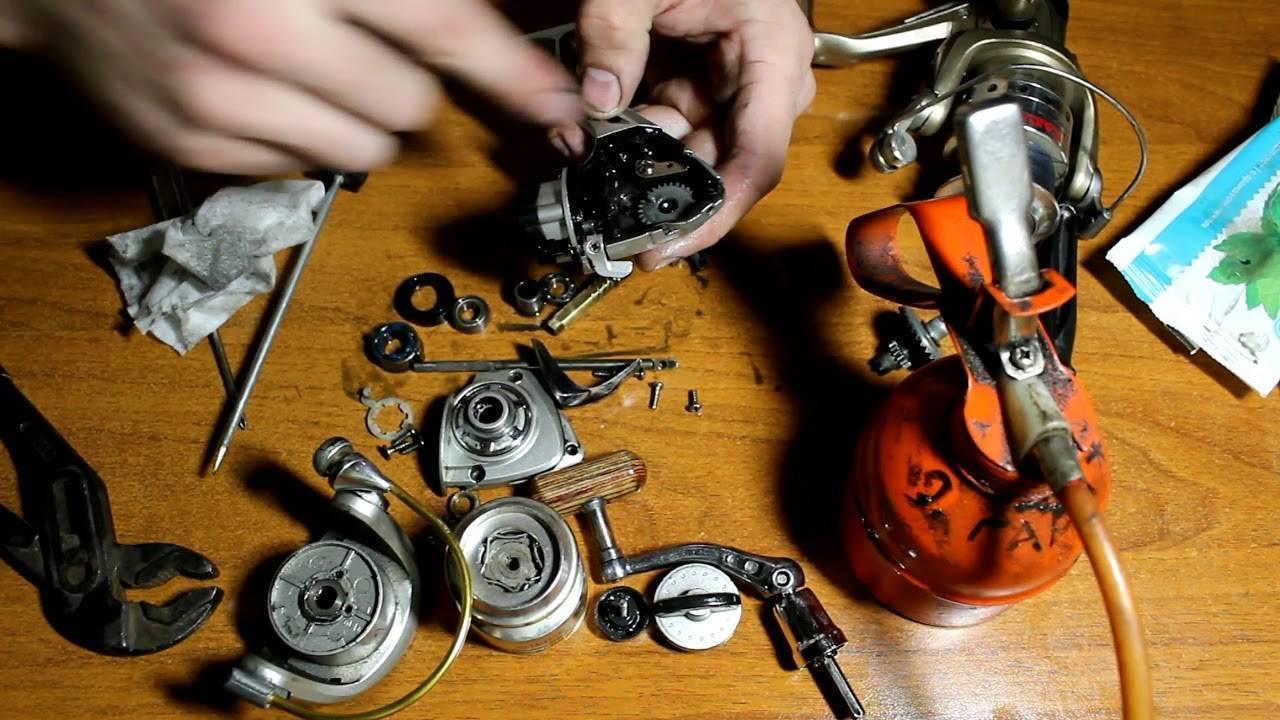 Как осуществить самостоятельный ремонт рыболовных катушек