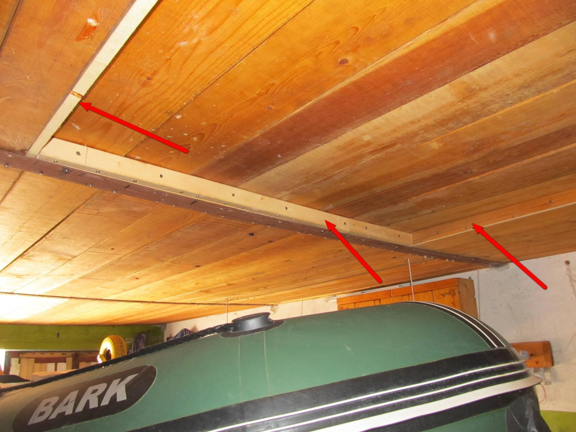 Хранение пвх лодки зимой в гараже под потолком, правильное хранение лодки в зимний период | гаражтек