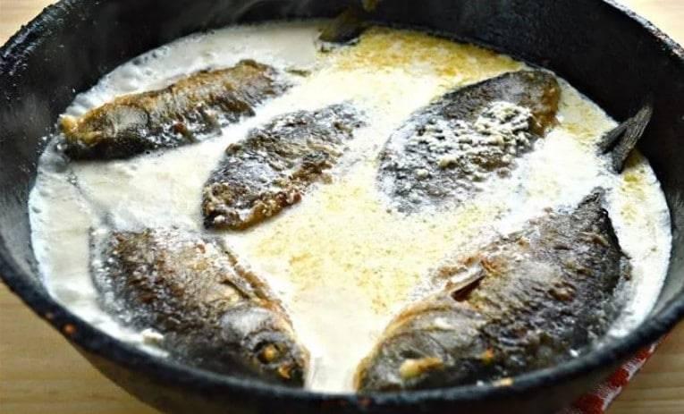 Рецепт приготовления наваги со сметаной на сковороде