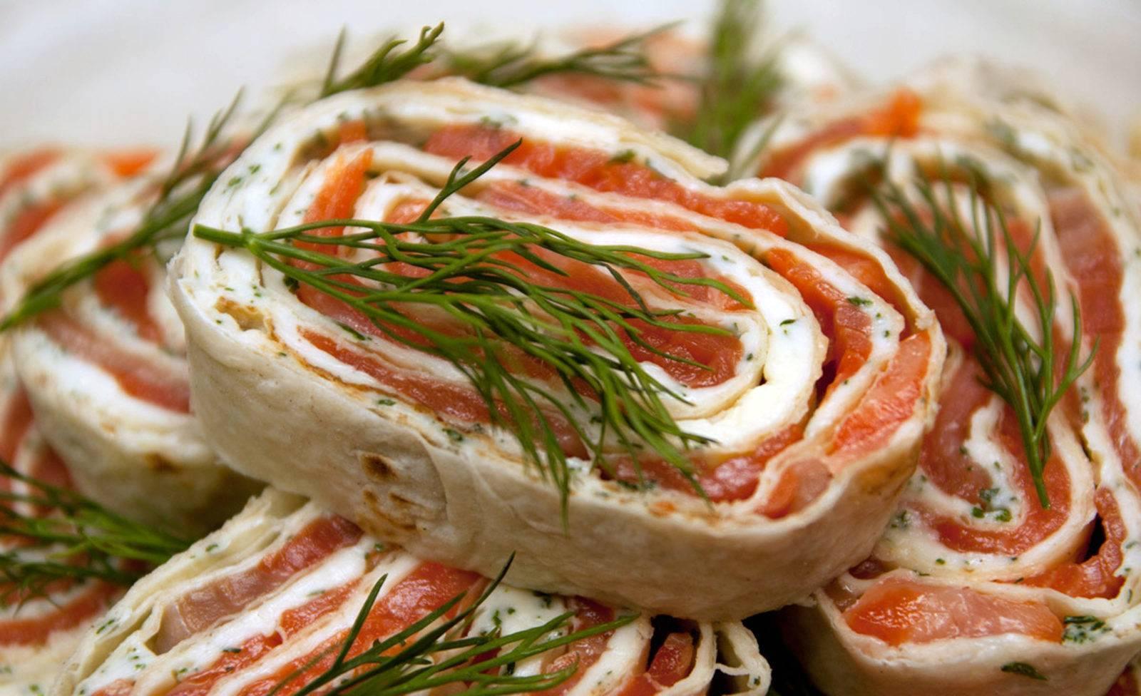 Лаваш с семгой – 9 лучших рецептов приготовления