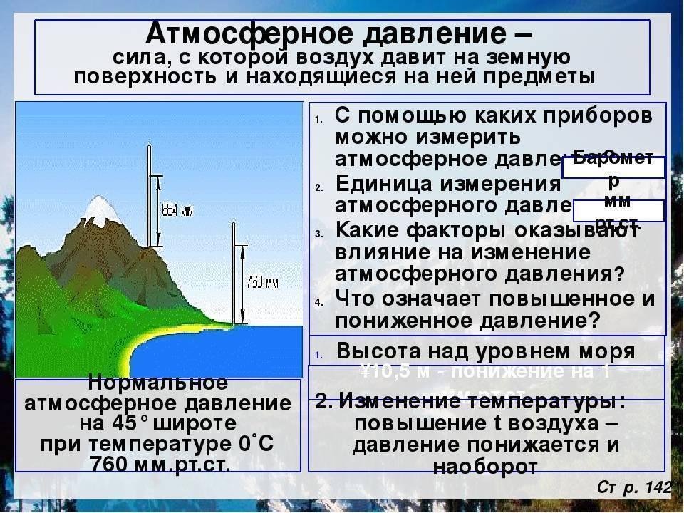 Атмосферное давление: что это такое, причины образования, единицы измерения, нормы, фото и видео  - «как и почему»