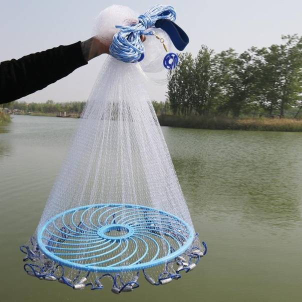 Кастинговая сеть с большим кольцом: как забрасывать кастинговые сети? техника ловли рыбы на рыбалке, устройство сети
