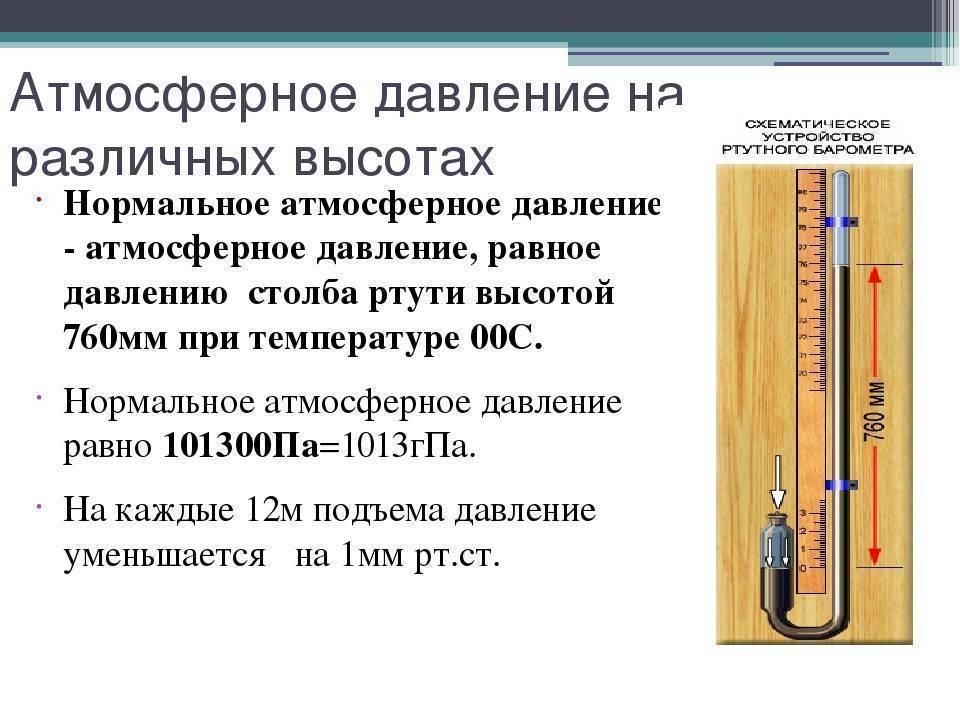 Какое атмосферное давление считается низким для человека | медик03