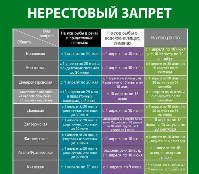 Нерестовый запрет 2020 нижегородская область. новый закон о рыбалке
