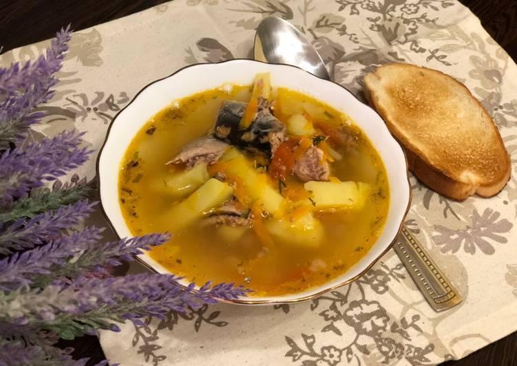 Рыбный суп рецепт из консервов с рисом рецепт