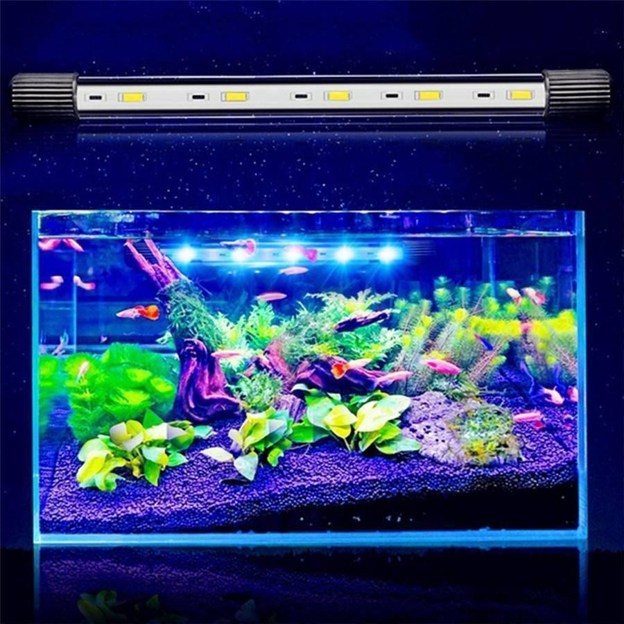 Cветодиодные светильники для аквариума (освещение, подсветка): светодиоды, лампы, led (лед), прожекторы, ленты, расчет