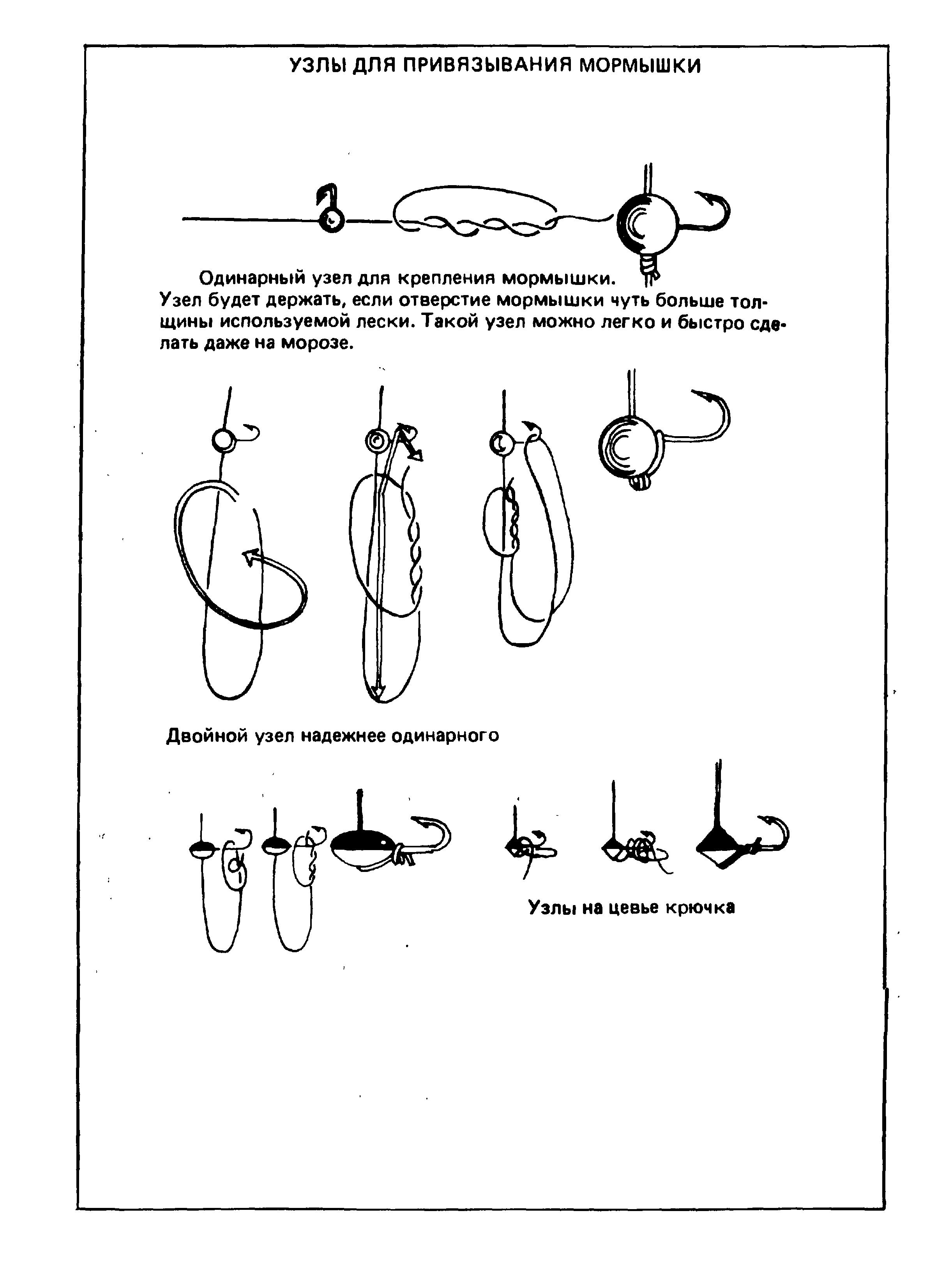 Как привязать мормышку к леске – надежные узлы [2019]