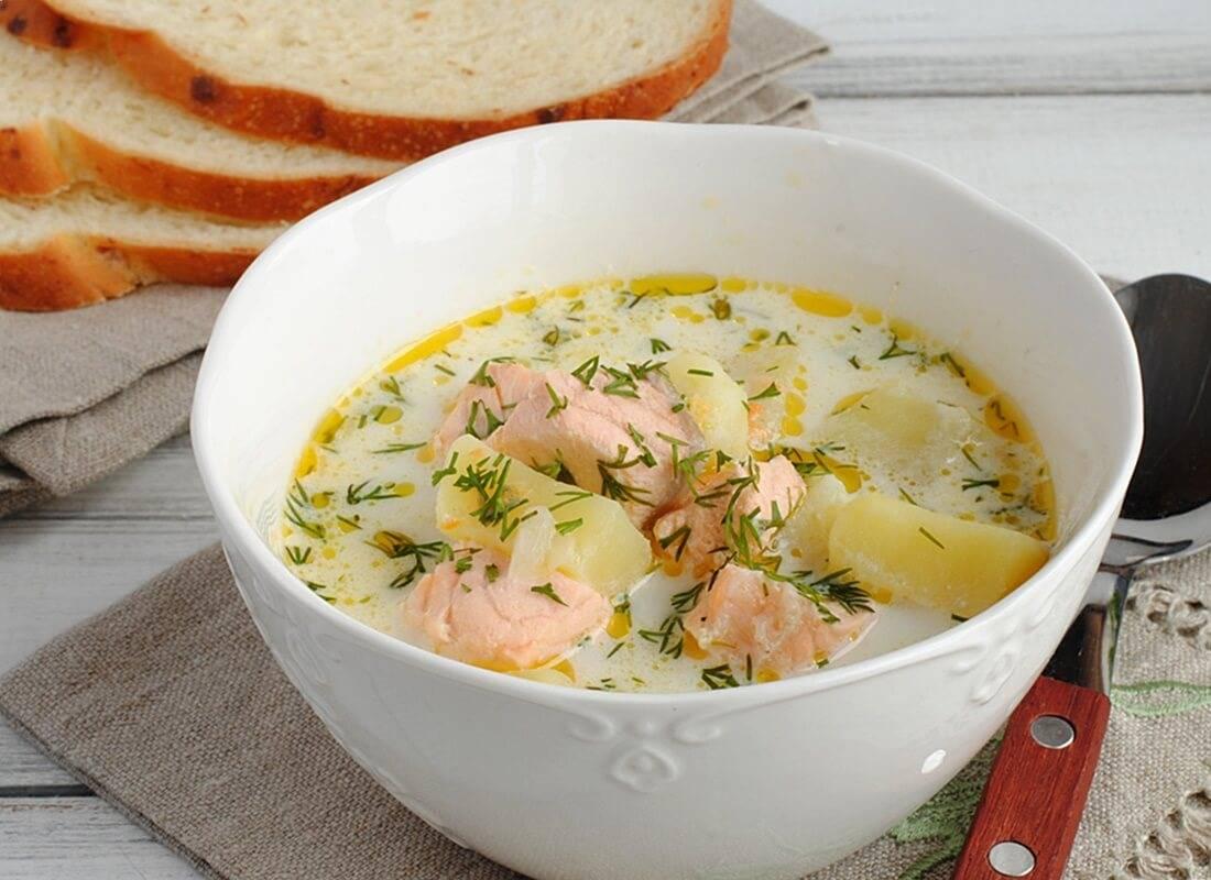 Суп из лосося со сливками по фински – визитная карточка страны: рецепт с фото и видео