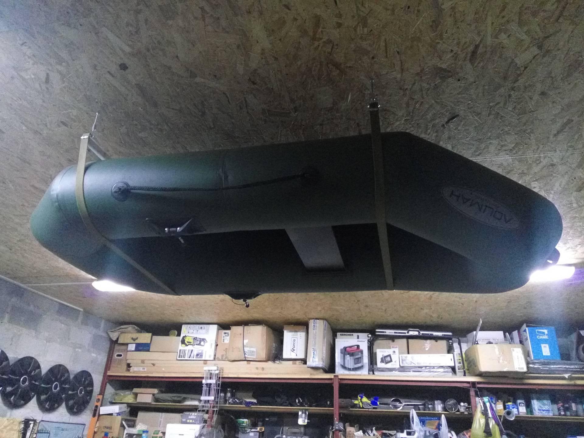 Правильное хранение лодки из пвх на морозе в гараже свернутой