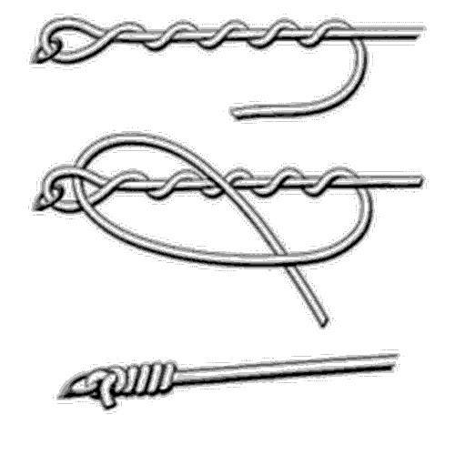 Как привязать леску к крючку: схемы надежных узлов